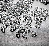 10000Stk Deko-Diamanten 6mm Farblos Absofine Diamantkristalle Transparent Kristall Dekosteine...
