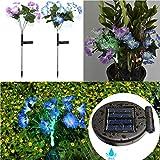 Solarleuchte Garten für Außen,Solar Cherry Lilie Blumen Garten Lampen Rasenlicht 8 Kopf Solarlicht...