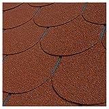 Bitumen Dachschindeln Biberschwanz rot