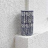 Rishx Keramik Vase Glatt Blau-Vertikal-Muster Blumentopf Wasserkulturanlage Tabletop Blumentopf Home...