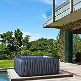 Whirlpool MSpa aufblasbar fr 6 Personen SPA 185x185cm In-Outdoor Pool 132 Massagedsen Timer Heizung...