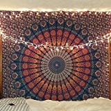 Craftozone Multicolored Mandala Tapestry Indian Wall Hanging, Bed Sheet, Comforter Picnic Beach...