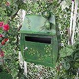 Asffdhley Wand Briefkasten Garten Wandbehang Eisen Retro Wanddekoration Briefkasten Dekoration...