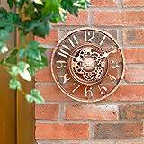 Garden Mile Gro Vintage Modern Retro-stil Garten Innen/Auenbereich Wanduhr Dekorativ Zaun Ornament...