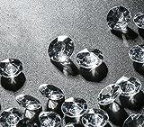 Absofine Deko Diamanten 12mm 2000Stk Farblos Funkelnde Diamantkristalle Streudeko Deko Steine...