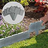 Maison & White 5 Meter Grey Stone Effect Rasenkanten | Pflanzengrenze | Hammer In Cobblestone Garten...