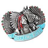 dailymall Vintage Sitting Bull Indianer Häuptling Pferd Gürtelschnalle Eagle Native American