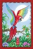 jiaxingdalin Hausgarten-Dschungel-Ara - Zoll-dekorative USA-produzierte Garten-Flagge