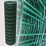 25 m Drahtgeflecht Zaungeflecht grün Höhe 120 cm Maschenweite 5 x 10 cm