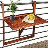Deuba Balkonhängetisch Klappbar FSC-zertifiziertes Akazienholz Hängend 64 x 45 cm Balkontisch...